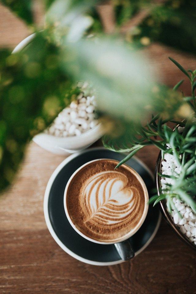 A beautifully shaped heart of milk steam in a coffee mug